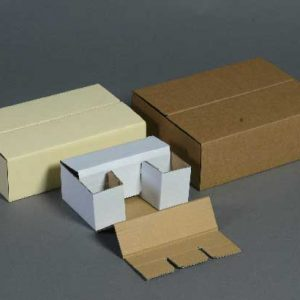 Boite découpée formant casier